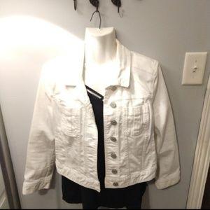 Express White Jean Jacket Medium